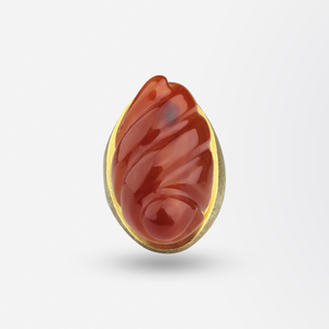 Carnelian and Gold Haroldo Burle Marx Ring