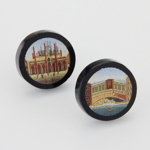 Micromosaic Grand Tour Buttons - The Antique Guild