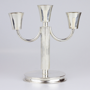 Pair of German .800 Continental Silver Candelabras
