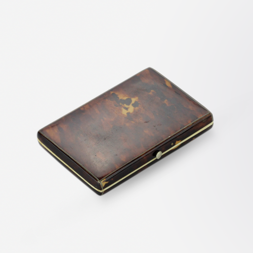 Tortoiseshell and Ivory Card Case