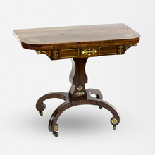 Load image into Gallery viewer, 19th Century Rosewood Regency Card Table, England.