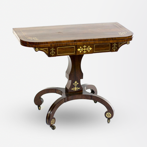 19th Century Rosewood Regency Card Table, England.
