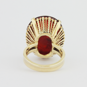 14kt Gold Ring with Carnelian Intaglio Seal
