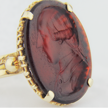 Load image into Gallery viewer, 14kt Gold Ring with Carnelian Intaglio Seal