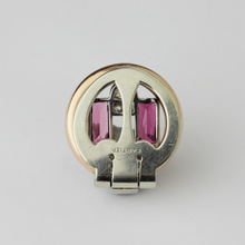 Load image into Gallery viewer, Art Deco Cartier Pin with Gold, Platinum, Tourmaline and Diamond