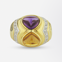 Load image into Gallery viewer, Citrine, Amethyst & Diamond Ring