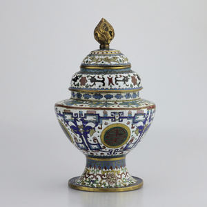 Early Republic Segmented Cloisonné Vessel - The Antique Guild