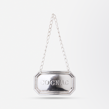 "Load image into Gallery viewer, Sterling ""Cognac"" Decanter Tag"