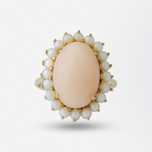 Load image into Gallery viewer, An 18kt Yellow Gold, Coral and Pearl Suite