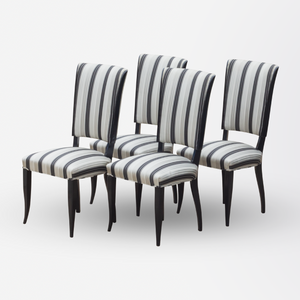 Set of Four Ebonised Art Deco Dining Chairs