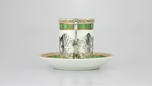 Load image into Gallery viewer, Six Demitasse Cups & Saucers with Matching Spoons - The Antique Guild