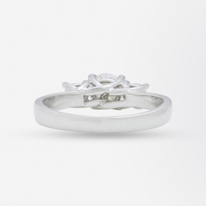 Platinum and Diamond Trinity Ring