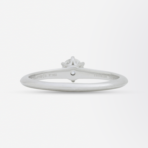 Platinum and Solitaire Diamond Ring by Tiffany and Company