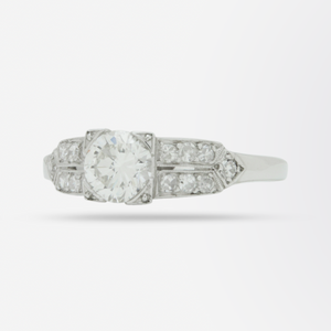 Platinum and Diamond Art Deco Style Ring
