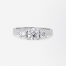 Load image into Gallery viewer, Platinum and Diamond Trinity Ring