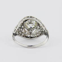Load image into Gallery viewer, Art Deco Platinum and Diamond Ring
