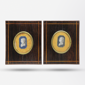 Pair of Cropped Miniature Portraits Circa 1800