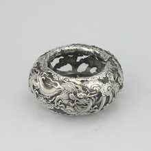Load image into Gallery viewer, Japanese Sterling and Glass Dragon Bowl - The Antique Guild