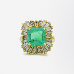 Exceptional Emerald and Diamond 'Ballerina' Ring