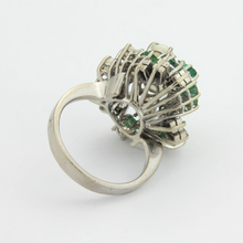 Load image into Gallery viewer, Platinum, Emerald, Opal and Diamond Ring - The Antique Guild