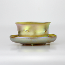 Load image into Gallery viewer, Tiffany Studios Favrile Bowl and Saucer - The Antique Guild