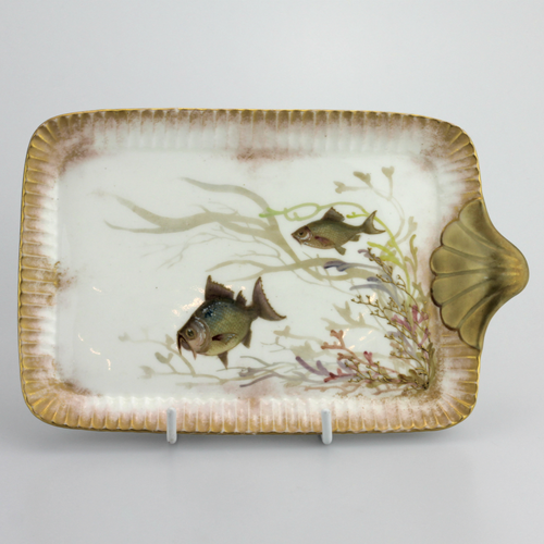 19th Century Royal Doulton Burslem Porcelain Serving Tray - The Antique Guild