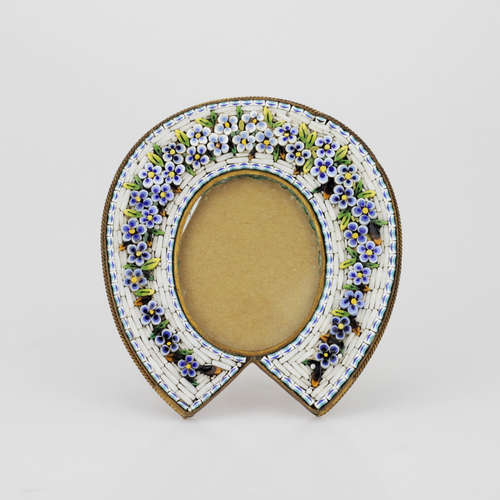 Small Micromosaic Horseshoe Frame - The Antique Guild