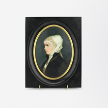Load image into Gallery viewer, 19th Century Framed Miniature Portrait on Porcelain by Franz Till