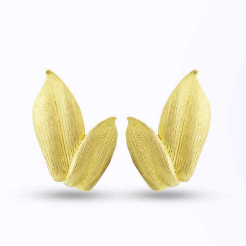 18kt Yellow Gold Buccellati Petal Ear Clips