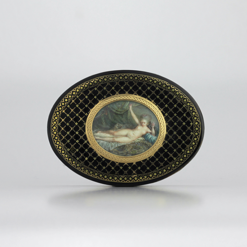 French Tortoiseshell Erotic Snuff Box - The Antique Guild