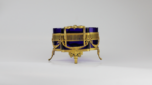 Gilt Silver and Glass Centerpiece