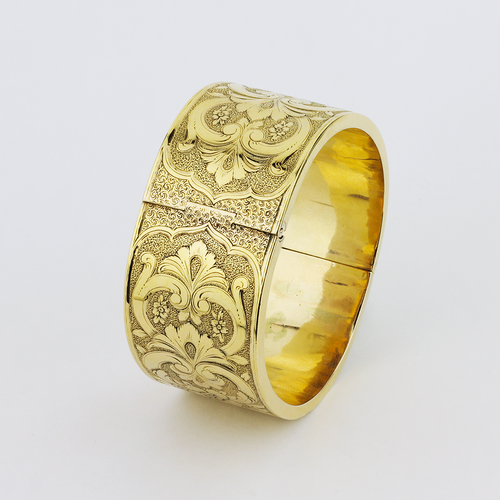 14kt Gold Victorian Hinged Cuff