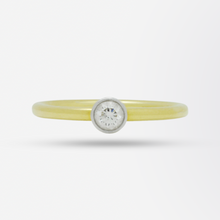 Load image into Gallery viewer, Tiffany & Co. Yellow Gold and Solitaire Diamond Ring