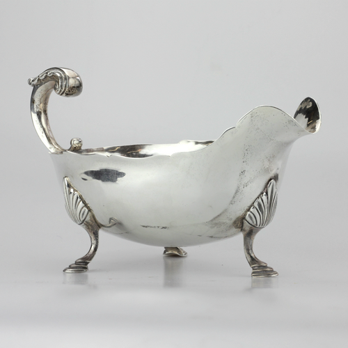 Sterling Silver Gravy Boat - The Antique Guild