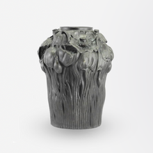 Load image into Gallery viewer, Early 20th Century Art Nouveau Black Terracotta Vase by Hjorth Fabrik