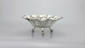 Hammered Silver Bowl - The Antique Guild