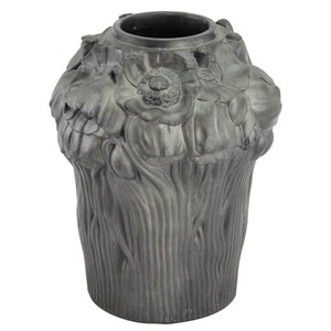 Early 20th Century Art Nouveau Black Terracotta Vase by Hjorth Fabrik - The Antique Guild