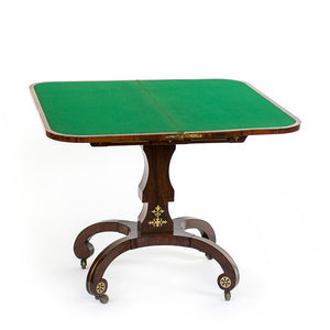 19th Century Rosewood Regency Card Table, England. - The Antique Guild