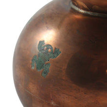 Load image into Gallery viewer, Mexican Copper, Brass and Malachite Inlay Frog Pitcher by Chato Castillo, Taxco - The Antique Guild