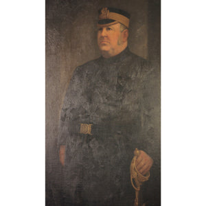 Oil on Canvas Portrait of an Officer - The Antique Guild