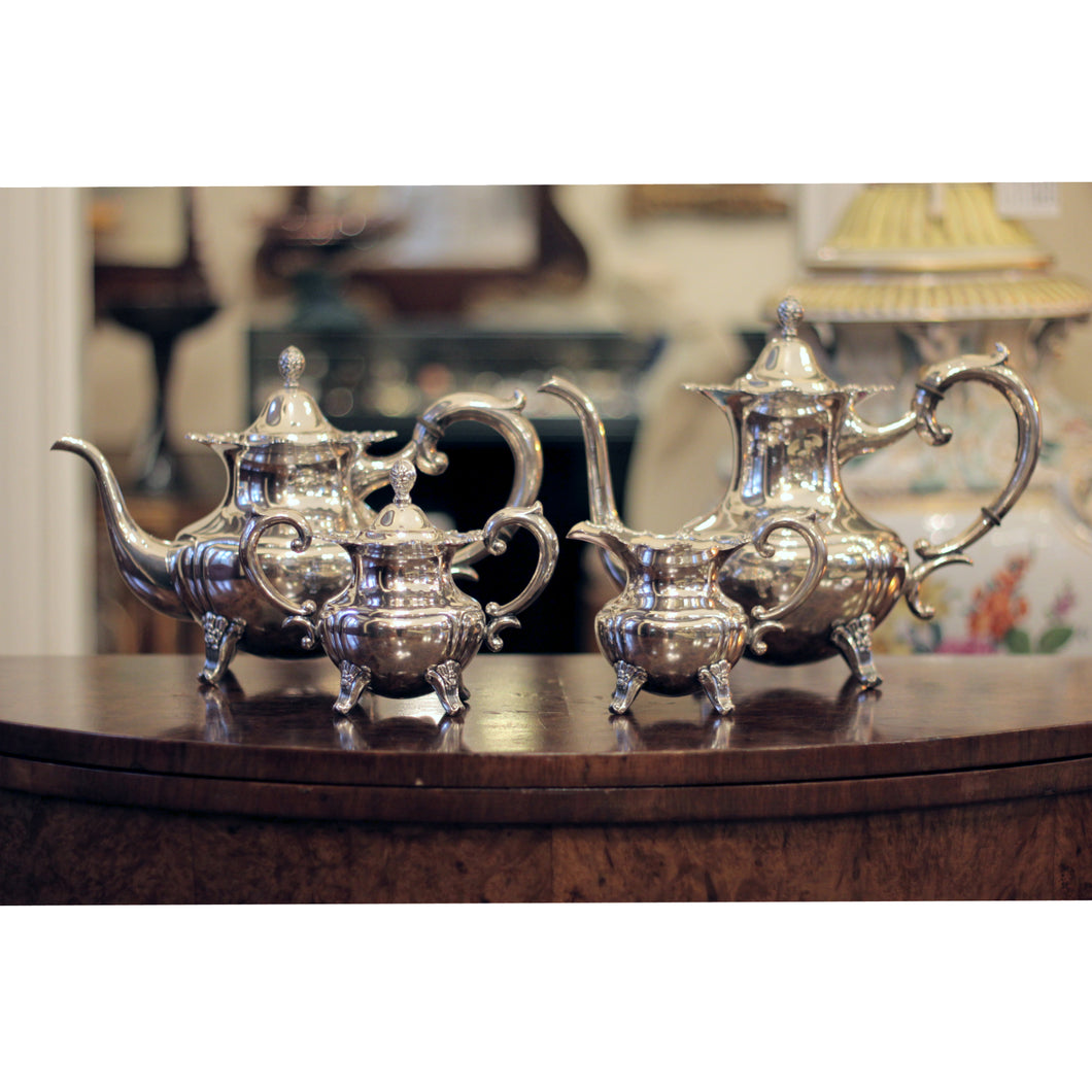 Four Piece .950 Silver Japanese Export Tea and Coffee Service - The Antique Guild