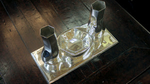 Modernist Centrepiece in Mexican Sterling Silver - The Antique Guild