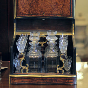 19th Century French Drinks Tantalus - The Antique Guild