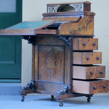 Load image into Gallery viewer, 19th Century Burled Walnut Davenport Mechanical Desk - The Antique Guild
