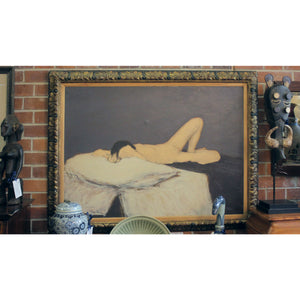 Nude Oil Painting by M. Zalone - The Antique Guild