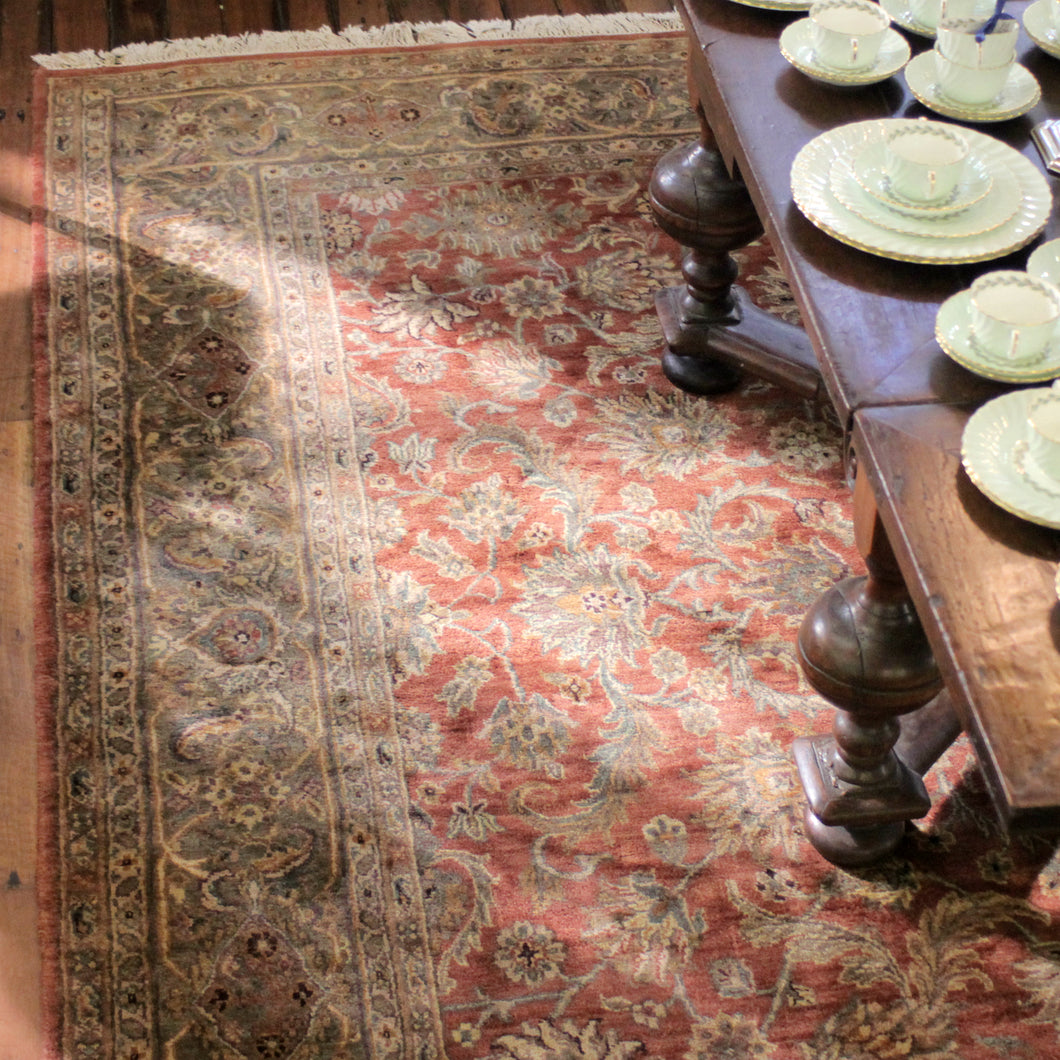 Handmade Persian Pile Rug in Warm Tones - The Antique Guild