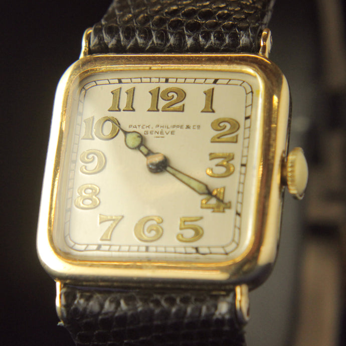 1920s Gold Patek Philippe Geneve Wristwatch - The Antique Guild