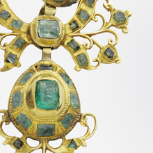 Load image into Gallery viewer, 18th Century, Iberian 22kt Gold and Emerald Pendant