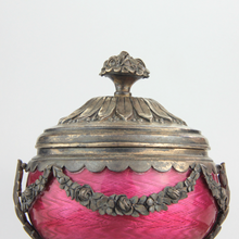 Load image into Gallery viewer, French Silver and Enamel Inkwell - The Antique Guild