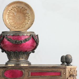 French Silver and Enamel Inkwell - The Antique Guild